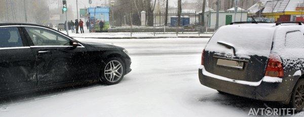 дтп мерседес зимой